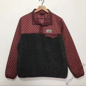 Patagonia Quilted Down Mixed Snap T Pullover